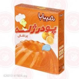 پودر ژله پرتقال ویتامین ث 100 گرمی شیبا