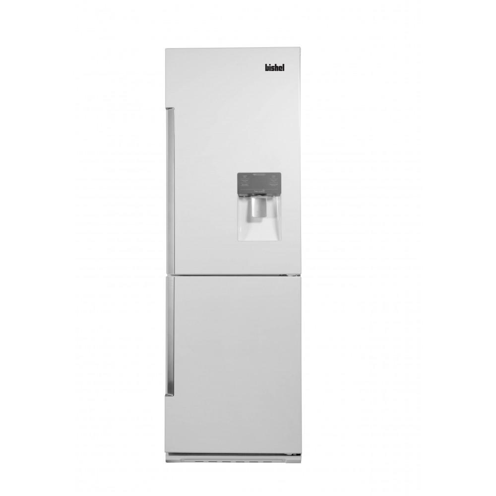 یخچال کمبی عرض 85 سفید چرم (فریزر بالا- آبریز برقی- یخساز اتومات)